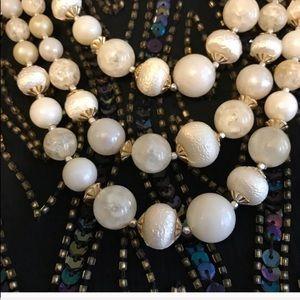 Vintage Triple Strand Bead Necklace